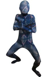 Abstract Sky Zentai Suit | Blue and Pink Spandex Lycra Full Body Suit