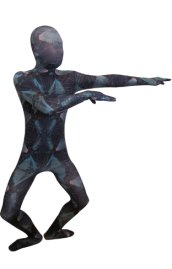 Abstract Sky Zentai Suit | Blue and Purple Spandex Lycra Full Body Suit