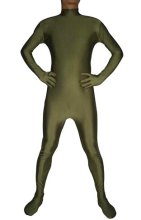 Army Green Spandex Lycra Catsuit (No Hood No Hand)