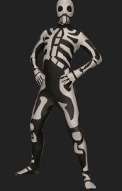 Black and White Skeleton Full Body Suit | Full Body Lycra Zentai Suits 2.0