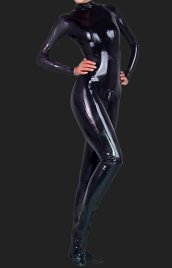 Black Full-body PVC Jumpsuit(No Hood and Hands)