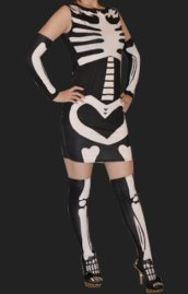 Black Skeleton 3 Set Dress
