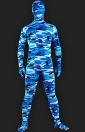 Blue Camouflage Full-body Unisex Lycra Spandex Zentai Suits/Zentai Suit