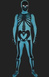 Blue Skeleton Full Body Suit | Spandex Lycra Zentai Bodysuit