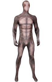 Brown Huskey Petsuit Dye-Sub Spandex Lycra Costume