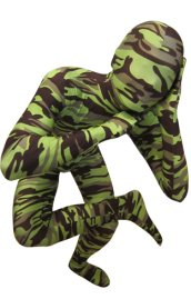 Camouflage Zentai Suit | Green and Black Spandex Lycra Zentai Suit