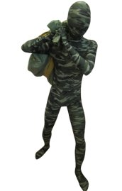 Camouflage Zentai Suit | Green and Dark Green Spandex Lycra Zentai Suit