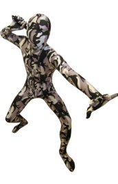 Camouflage Zentai Suit | Light Purple and Black Spandex Lycra Zentai Suit