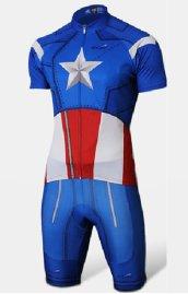 2a0c0a4ef24 Captain America Printing Triathlon Skinsuit