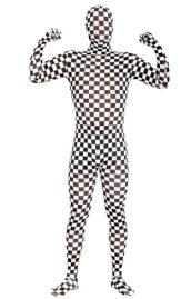 Checkered Full Body Suit | Black and White Checkered Zentai Suit