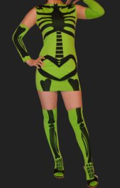 Green Skeleton 3 Set Dress