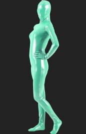 Light Green Shiny Full Body Suit | Shiny Metallic Unisex Zentai Suit