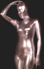 Light Pink Shiny Full Body Suit | Full-body Shiny Metallic Unisex Zentai Suits