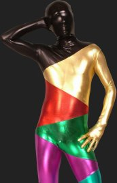 Multicolour Knitted Shiny Metallic Unisex Full-body Zentai Suits