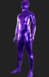 Purple Shiny | Full-body Shiny Metallic Unisex Zentai Suits