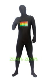 Raver Zentai Suit | Panel Lights Respond to Sound