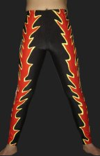 Red and Black Spandex Lycra Tight Wrestling Pants