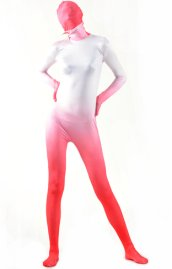 Red Gradient Full Body Suit | Silk Lycra