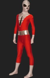 Skeleton Tuxedo Full Body Suit | Red and Black Spandex Lycra Full Body Suit