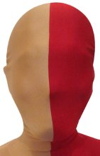 Split Zentai Mask | Carnation and Red