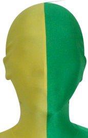 Split Zentai Mask | Green and Yellow