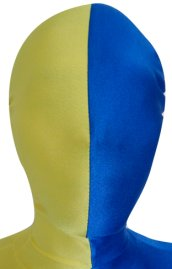 Split Zentai Mask | Yellow and Blue