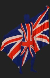 Union Jack Full Body Suit | England Full Body Suits with Flag