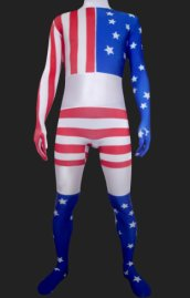 USA Full Body Suit | Red, Blue and White Spandex Lycra Zentai Suit