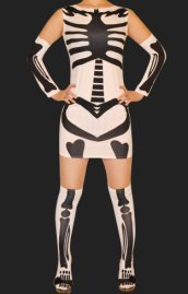 White Skeleton 3 Set Dress