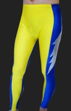 Yellow and Blue Flash Spandex Lycra Pants
