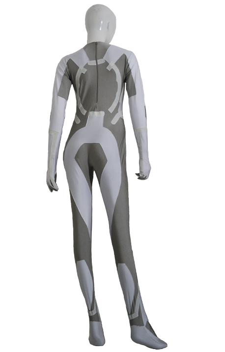 sc 1 st  Zentai-Zentai.com & Tron Costume | White and Dark Grey Glow in Dark Spandex Lycra Catsuit