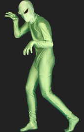 Alien Full Body Suit | Green Alien Spandex Lycra Zentai Bodysuit 2.0