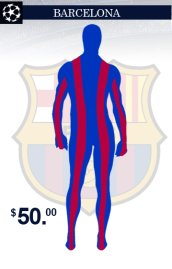 Barcelona Team Uniform Zentai Suit