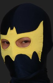 Black and Yellow B-guy Hood with Open Eyes