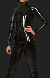 Black PVC Jumpsuits/Catsuits