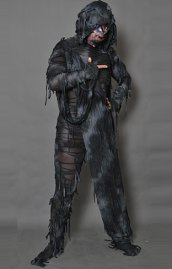 Black Zombie Spandex Halloween Costume