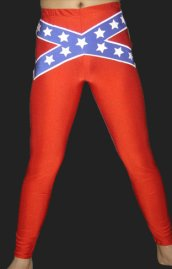 Blue and Red Spandex Lycra Tight Wrestling Pants