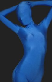Blue Full Body Suit - Solid Color Full Body Lycra Spandex Zentai Suit