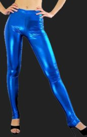 Blue Shiny Metallic Pants