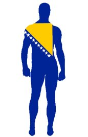 Bosnia and Herzegovina Flag Spandex Lycra Zentai Suit