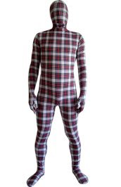 British Grid Patterned Unisex Spandex Lycra Zentai Suit