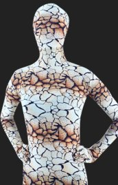 Brown Crack Rock Spandex Lycra Full Body Unisex Zentai Suit