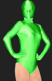 Bud Green Lycra Spandex Half-body Unisex Zentai Suits