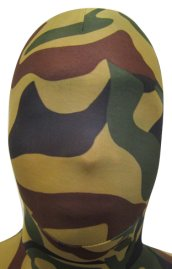 Camo Zentai Hood | Black, Brown and Dark Green