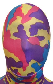 Camo Zentai Hood | Yellow Purple Blue Red