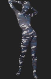 Camouflage Unisex Lycra Spandex Full-body Zentai Suit(Green)