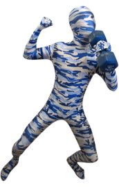 Camouflage Zentai Suit | Blue and Light Blue Spandex Lycra Zentai Suit