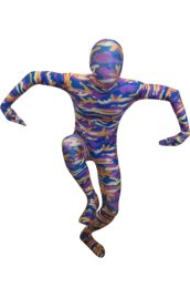 Camouflage Zentai Suit | Blue and Purple Spandex Lycra Zentai Suit