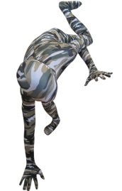 Camouflage Zentai Suit | Light Coffee and Green Spandex Lycra Zentai Suit