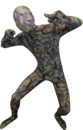 Camouflage Zentai Suit | Military Green and Brown Spandex Lycra Zentai Suit